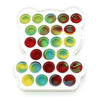 Сенсорная игрушка антистресс Мишка Pop it для детей и взрослых Fidget вечная пупырка