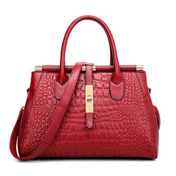Стильная кожаная женская сумка. Модель 475