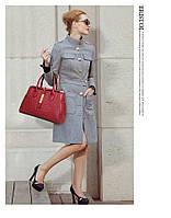 Стильная кожаная женская сумка. Модель 475, фото 6