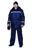 Куртка и полукомбинезон утепленный, костюм зимний, спецодежда на синтепоне