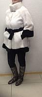 Шуба белая из норки Chanel с поясом