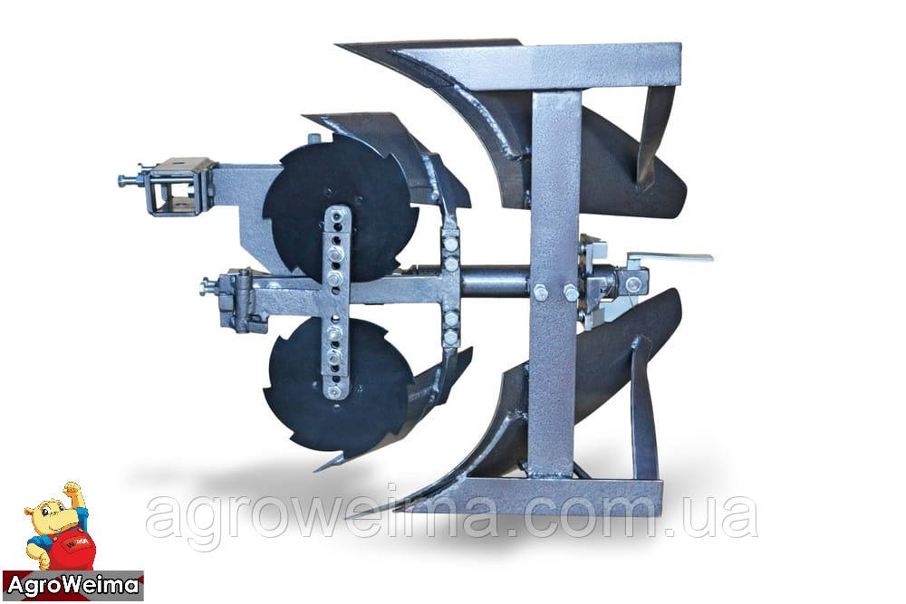 """Плуг оборотный с предплужником и подрезными дисками для тяжёлых мотоблоков и Мотор Сич """"ПО-1пд"""" (AMG)"""