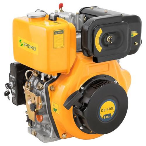 Двигатель дизельный Sadko DE-410Е, 9 л.с, вал на шпонку, БЕСПЛАТНАЯ ДОСТАВКА!