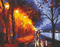 Картина по номерам Menglei Аллея возле озера худ Афремов, Леонид (KH234) 40 х 50 см
