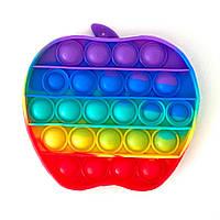 Pop It Яблоко сенсорная игрушка антистресс Поп Ит, игрушки антистресс для детей, вечная пупырка bouble push