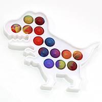 Сенсорная игрушка антистресс Динозавр Pop It для детей и взрослых Fidget вечная пупырка Поп Ит