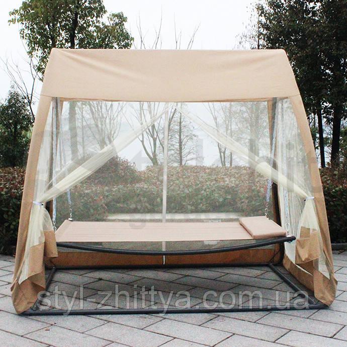 Гойдалка-гамак з москітною сіткою, павільйон садовий 3в1