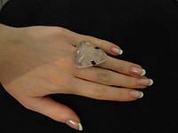 Кольцо с розовым кварцем, фото 1