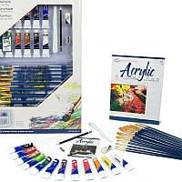 Набор акриловых красок и кисточек 31 предмет 57,5*37*4 см. США 540332