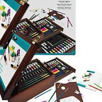 Подарочный набор художника в деревянном футляре 108 предметов 41*30*16 см. США 540334
