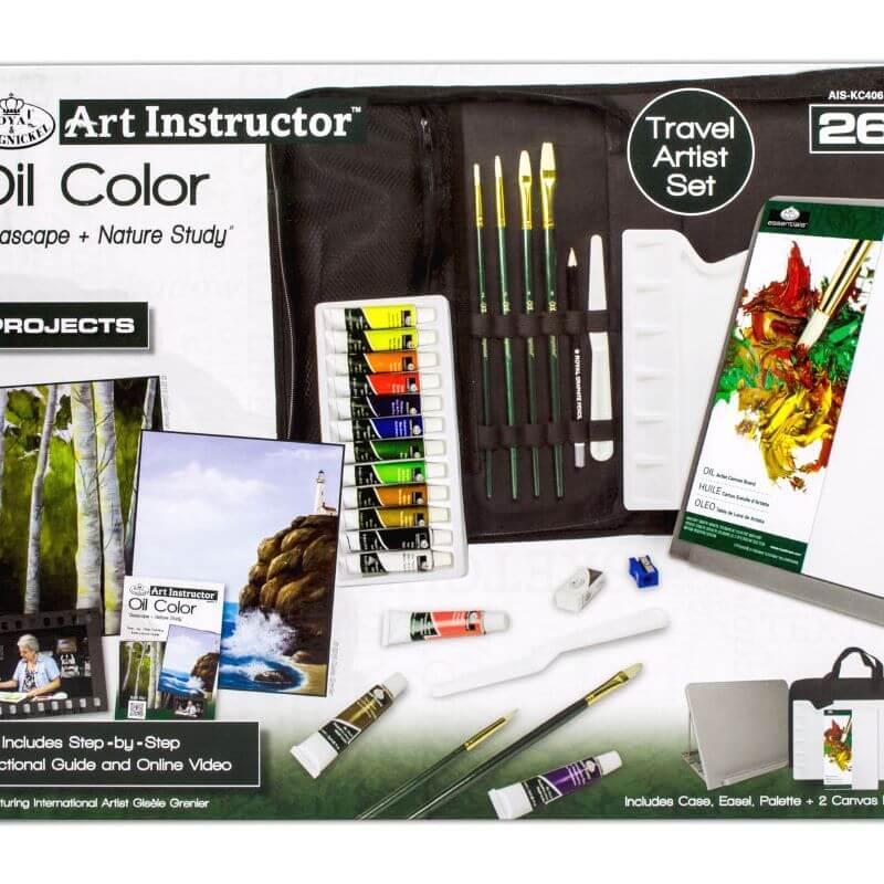 Набір художника з олійними фарбами у сумці з мольберотом 26 предметів 38*28*7 див. США 540337