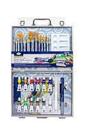 Набор художника в кейсе для рисования акриловыми красками 31 предмет 64*38*3 см. США 540345