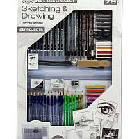 Набор карандашей и мелков для рисования в чемоданчике 79 предметов 58*37*4 см. США 540346