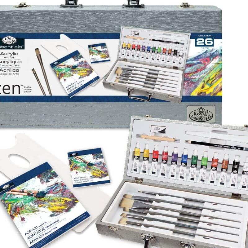 Подарочный набор для рисования в чемоданчике Акрил 26 предметов 38*20*7 см. США 540350
