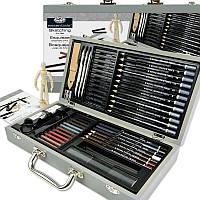 Подарочный набор карандашей для скетчинга в деревянном чемодане 58 предметов 36*19*7 см. США 540353