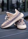 Женские кроссовки Adidas Yeezy 350 V2 Ash Pear Рефлективные шнурки, фото 5