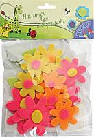 _Наклейки для творч. 950213 цветы войлок