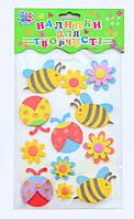 _Наклейки для творч. 951045 пчёлки и божьи коровки Ухтишко