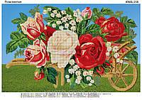 """Схема для частичной выфшивки бисером на атласе """"Розы. Винтаж"""""""