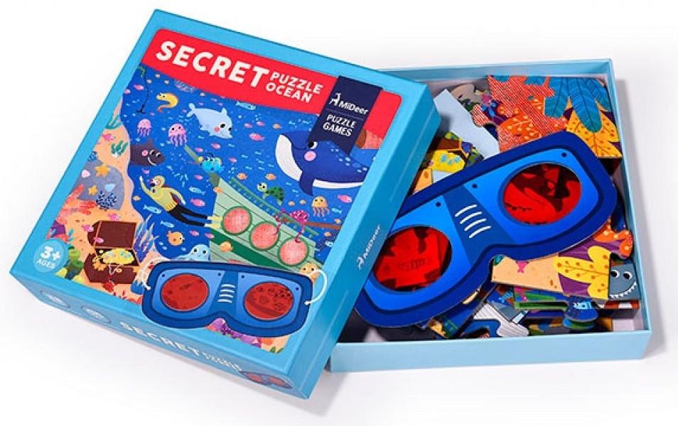 Пазл секрет с очками Mideer океан 35 элементов