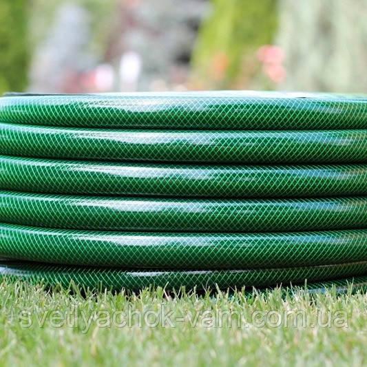 """Шланг садовый диаметр 5/8"""" длина25м стойкий к ультрафиолету и механическим воздействиям Италия зеленый"""