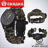 Наручные милитари тактические часы Paracord Watch c компасом