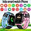 Дитячі наручні розумні годинник Smart Watch F2 з GPS, кнопкою SOS і Камерою Блакитні Смарт Телефон Ф2 для Дитини, фото 2