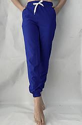Батальные женские летние штаны, софт №103 электрик