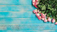 Фотофон А3 (42х29,7см) Розы на голубом дереве
