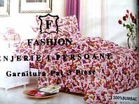 Полуторное постельное белье жатка East Comfort розовое