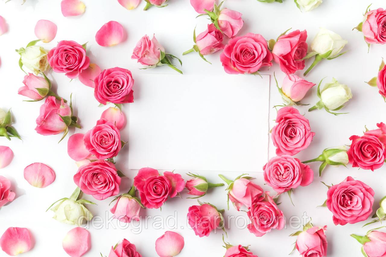 Фотофон А3 (42х29,7см) Розы чистый лист