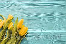 Фотофон А3 (42х29,7см) Желтые тюльпаны голубое дерево