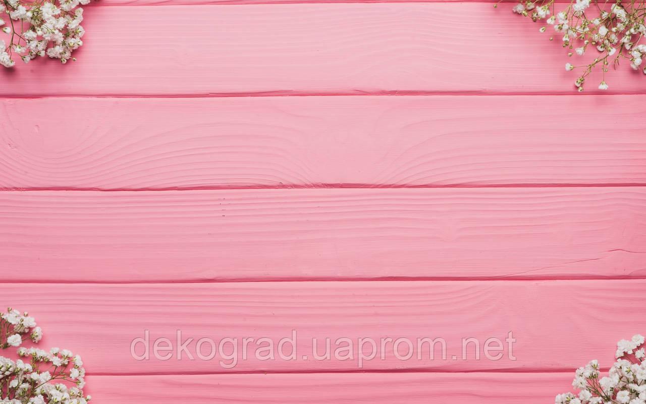 Фотофон А3 (42х29,7см) Гипсофила розовые доски