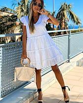 Стильное легкое летнее платье из хлопка хит сезона ПЕРСИК 42-46, фото 2