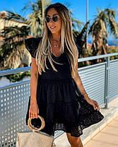 Стильне легке літнє плаття з бавовни хіт сезону ПЕРСИК 42-46, фото 3