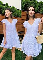 Стильне легке літнє плаття з бавовни хіт сезону ПЕРСИК 42-46, фото 2