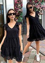 Стильное легкое летнее платье из хлопка хит сезона ПЕРСИК 42-46, фото 3