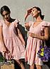 Стильне легке літнє плаття з бавовни хіт сезону ПЕРСИК 42-46, фото 4