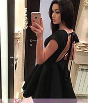 Плаття барбі бебі дол з відкритою спиною ЧОРНЕ 42-44, фото 2