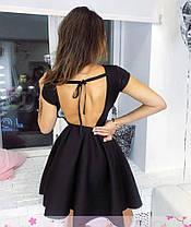 Плаття барбі бебі дол з відкритою спиною ЧОРНЕ 42-44, фото 3
