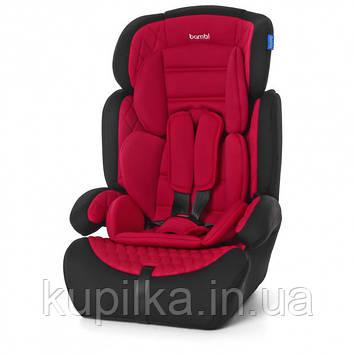 Детское универсальное автокресло с бустер Bambi M 3546 RED для детей весом от 9 до 36 кг, красное