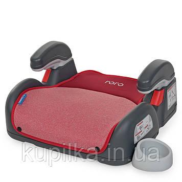 Детское автомобильное кресло бустер ME 1144 RORO Isofix Ruby Red, для детей весом от 22 до 36 кг, красное