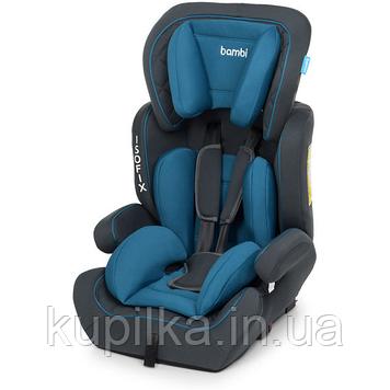 Универсальное автокресло с бустером для ребенка Bambi M 4250 с системой ISOFIX (9-36 кг) Синий