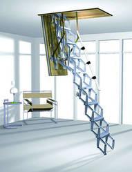 Чердачная электро лестница Roto Elektro 120,130,140х70 мм ножничного типа