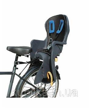 Детское велокресло с 3-х точечными ремнями безопасности, с нагрузкой до 22 кг TILLY Easy Fit T-841 темно-серое
