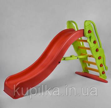Пластиковая горка для детской площадки или дома с бортами безопасности Pilsan Monkey slide 06-179