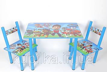 Набор детской деревянной мебели столик с двумя стульчиками PAW Patrol Щенячий патруль