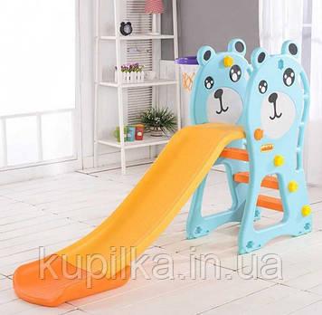 """Детская пластиковая горка, устанавливается на детскую площадку A - 40355 """"Toti"""" (высота 100 см)"""