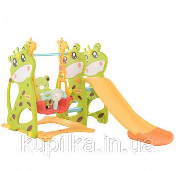 """Разноцветный игровой центр с горкой и качелей для детей от 1 года до 6 лет 07-603 """"Toti"""" (высота 128 см)"""
