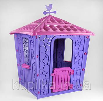 Домик для игры на детской площадке для детей от 1 до 7 лет Pilsan Stone 06-437, цвет сиренево-лиловый